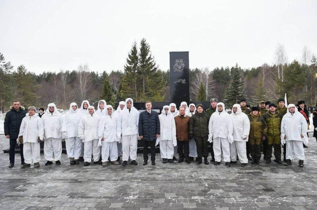 митинг памяти 19-ти бойцов отдельного лыжного батальона