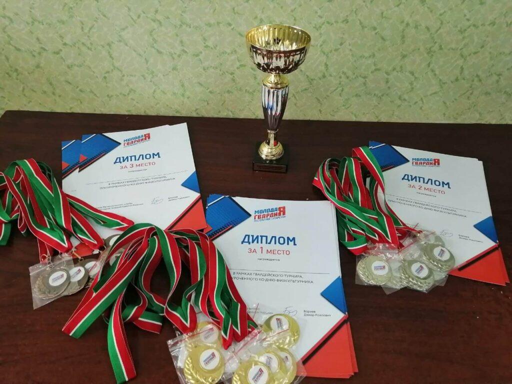 Соревнования по волейболу в рамках празднования дня физкультурника и 90 летия ГТО